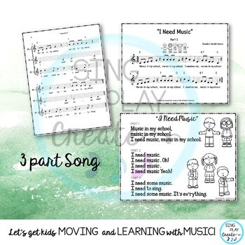 "FREEBIE CHORAL SONG: ""I Need Music"" SSA ACAPELLA"