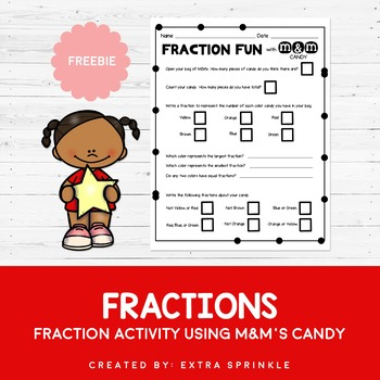 FREEBIE M&M's Candy Fraction Activity
