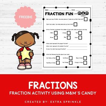 FREEBIE M&M's Candy Fraction Activity