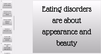 FREEBIE! Myths About Eating Disorders - Student Group Analysis Activity