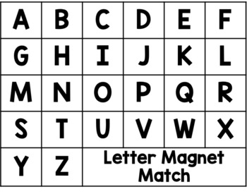 FREEBIE Magnetic Letter Activity Boards