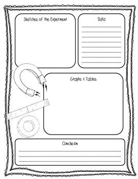{FREEBIE} Magnets Lab Sheet (2 Pages) {Scientific Method Lab Sheet}