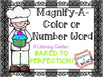 FREEBIE!  Magnify a Number or Color Word Community Helper!
