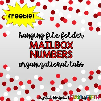 FREEBIE - Mailbox Numbers for Hanging Folders