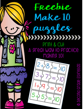 FREEBIE Making 10 puzzles