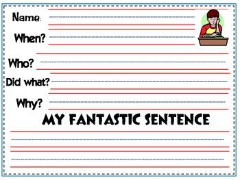 FREEBIE - Making Sentences & Paragraphs
