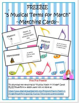 """FREEBIE """"March Musical Terms"""""""