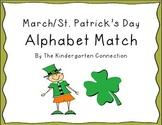 FREEBIE- March/St. Patrick's Day Alphabet Match