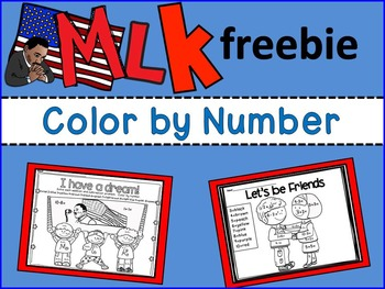 FREEBIE Martin Luther King Color by Number(Differentiated;
