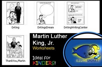 Martin Luther King, Jr. Worksheets for Kindergarten!