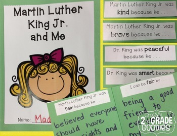 {FREEBIE} Martin Luther King Jr. and Me - Character Traits Mini Book