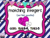 {FREEBIE} Matching Integers and Their Opposites Valentine