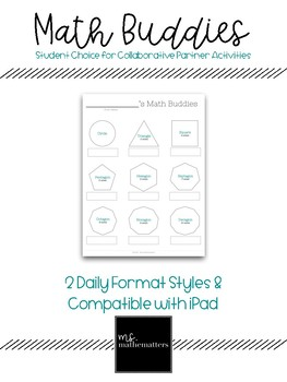 FREEBIE:  Math Buddies (Google Drive)