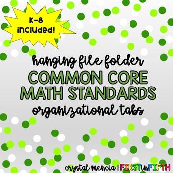 FREEBIE - Math CCSS for Hanging Folders