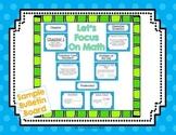 FREEBIE - Math Common Core Focus Wall Bulletin Board Headers