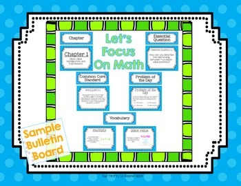 FREEBIE - Math Common Core Focus Wall Bulletin Board Headers