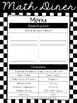 FREEBIE Math Diner - Math Unit Inventory in English and Spanish