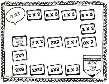 FREEBIE! Math Facts Game (2,3,5)