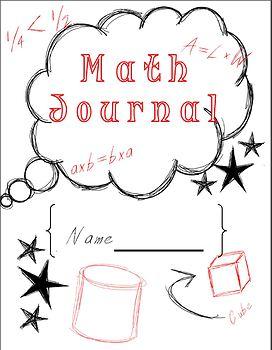 FREEBIE Math Journal Cover