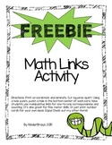 FREEBIE Math Links Activity