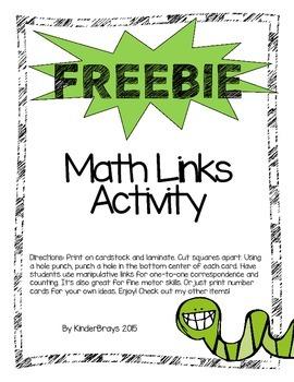 FREEBIE Math Links Activity