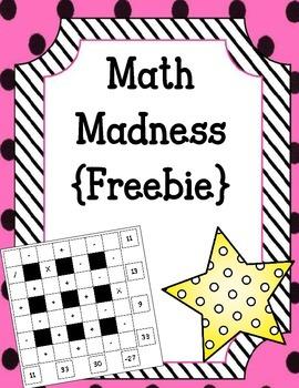 {FREEBIE} Math Madness.  Math Centers. Math Puzzles