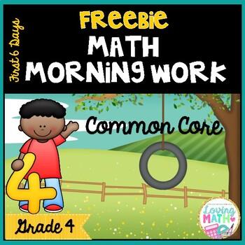 Math Morning Work Grade 4 FREEBIE