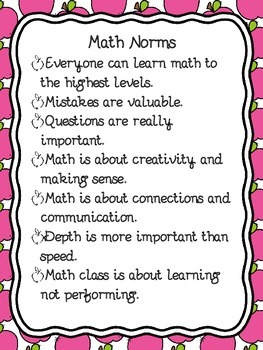 FREEBIE Math Norms