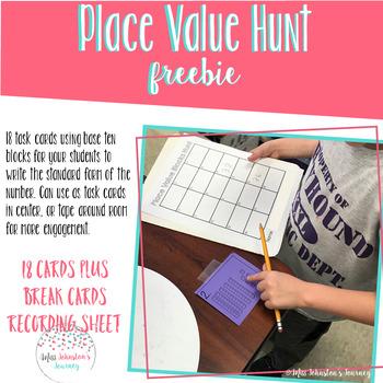 FREEBIE Math Place Value Hunt