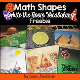 FREEBIE Math Shapes Write The Room Vocabulary