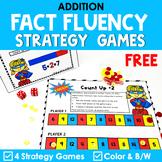 Addition Math Strategy Game - Superhero Theme