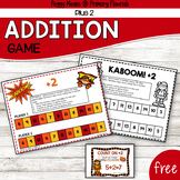 Addition Math Strategy Game - Superhero Theme