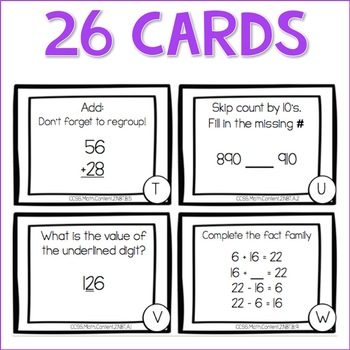 FREEBIE Math TASK CARDS: Number and Operations in Base Ten CCSS