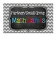 FREEBIE Math Tub Labels for any grade! (Chevron & Chalkboard)