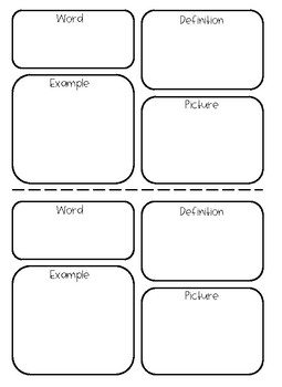 FREEBIE Math Vocabulary Graphic Organizer