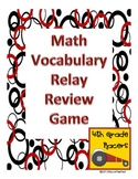FREEBIE Math Vocabulary Review Relay Game