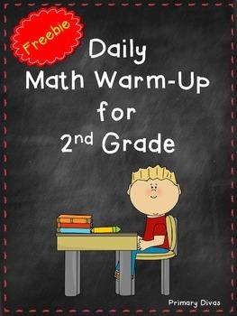 *FREEBIE* Math Warm-Up for 2nd Grade