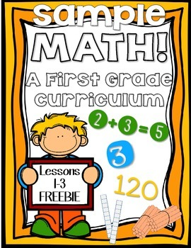 FREEBIE: Math for First Grade! Unit 1: Numbers to 50 Lessons 1-3