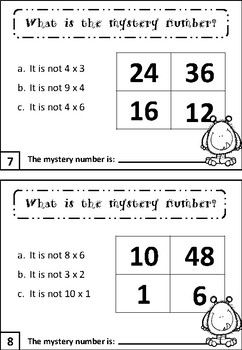 Multiplication Task Cards FREEBIE
