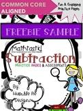 FREEBIE! Mathtastic Common Core Subtraction Practice Pages & Assessments Sampler