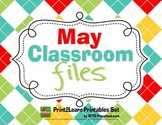 MAY PRESCHOOL TEACHER {CLASSROOM FILES}