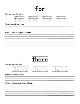 FREEBIE! McGraw Hill Wonders High Frequency Words Practice Unit 1 Week 1