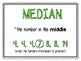 FREEBIE-Mean, Median, Mode, & Range Posters and Helper Sheets