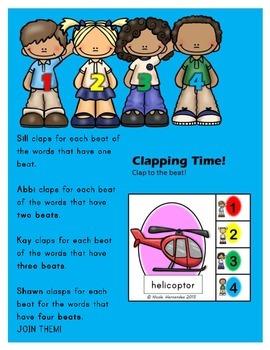 FREEBIE! Meet the Syllabication Team- Clip 'n Clap to the Beat!