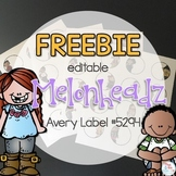 FREE Melonheadz Themed Avery Label 5294 { 48 different EDI