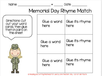 Memorial Day Rhymes FREE