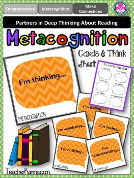 Metacognition Question Cards ~ Reading Think Sheet ~ Compr