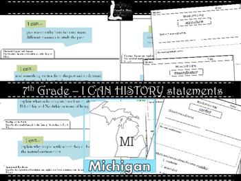FREEBIE - Michigan I CAN Statements - History