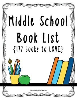 Middle School Book List ~ 177 Books to Read ~ Reading