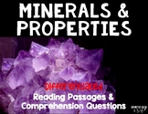 Minerals & Their Properties Differentiated Reading Passages & Questions